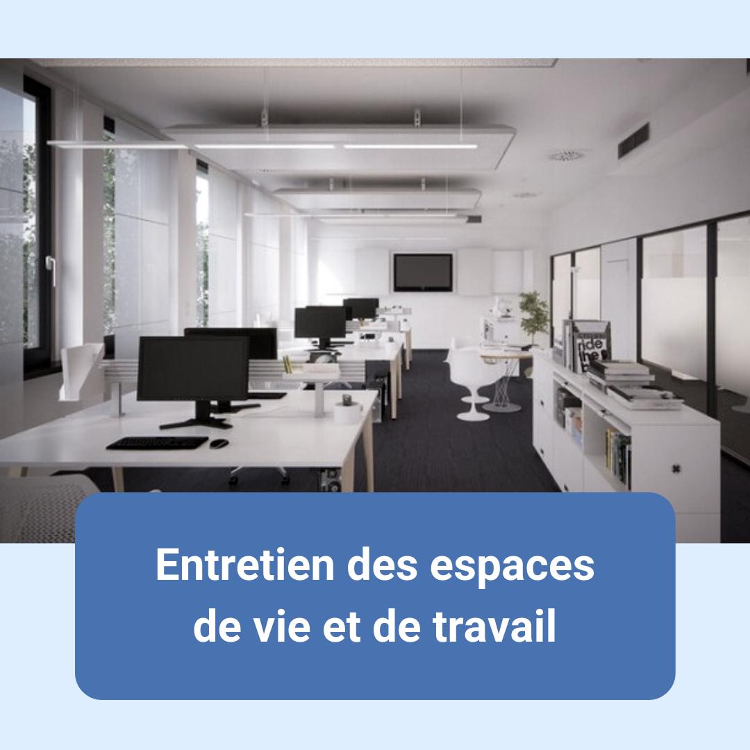entretien bureaux paris, tertiaire, services associés, prestations complémentaires, espaces de travail, entretien et nettoyage, débarras, poubelles, lustrage